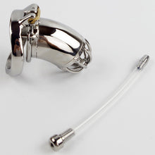 Load image into Gallery viewer, Stainless Steel Male Chastity Device With Silicone Urethral Sounds Catheter Spike Ring BDSM Sex Toys For Men