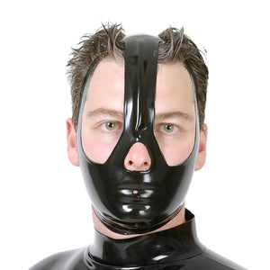 Latex Mask Unisex Rubber Hood BDSM Mask Nipple Clamps  Sex Game Sex Toys For Couples BDSM Sex Adult Sex Toys