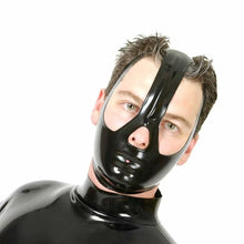 Load image into Gallery viewer, Latex Mask Unisex Rubber Hood BDSM Mask Nipple Clamps  Sex Game Sex Toys For Couples BDSM Sex Adult Sex Toys