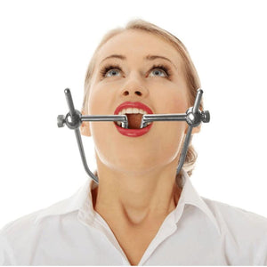 Mouth Plug Full Stainless Steel Adjustable BDSM Gag Handmade Neck Collar Restraints Ring Heavy Gag BDSM Bondage Sex Toy