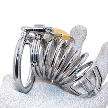 Load image into Gallery viewer, Spiral Penis Cage Male Chastity Device Cock Cage metal Chastity Belt Sex Toys