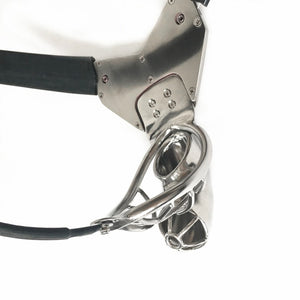 Silvery Metal Male Chastity Belt Men New Y-Shaped Men's Chastity Cage Ring With Cock Cage Penis Sleeve Sex Toys For Men Underpants