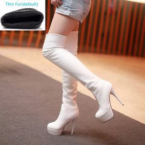Xtrememasterx Fashion Over Knee Thigh High Boots Women Sexy Thin High Heels Platform Women Shoes Woman