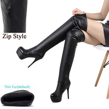 Load image into Gallery viewer, Xtrememasterx Fashion Over Knee Thigh High Boots Women Sexy Thin High Heels Platform Women Shoes Woman