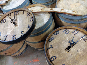 wine barrel clocks
