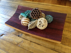 wine barrel stave platter / centerpeice