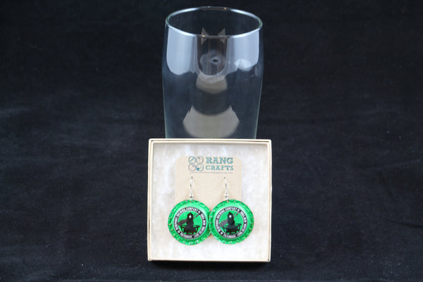 Blue Point Brewing Company Dangle Bottle Cap Earrings