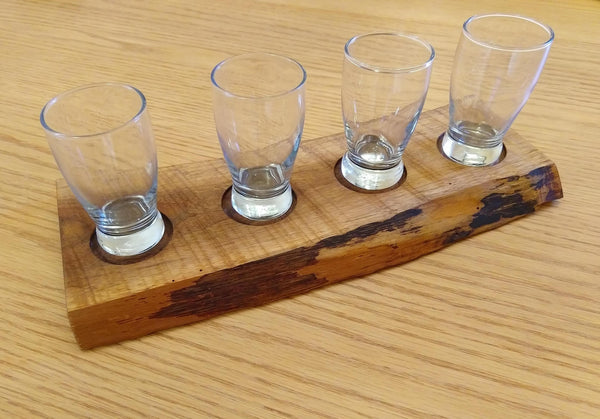 Beer Flight Live Edge Cedar