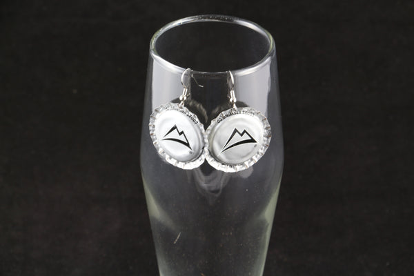 Coors Brewing Company Dangle Bottle Cap Earrings