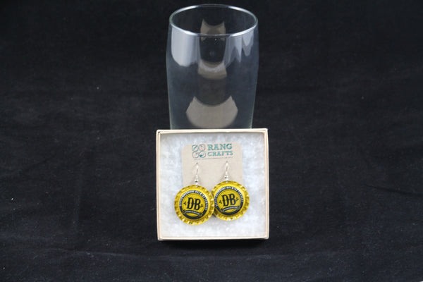 Devil's Backbone Brewing Company Dangle Bottle Cap Earrings