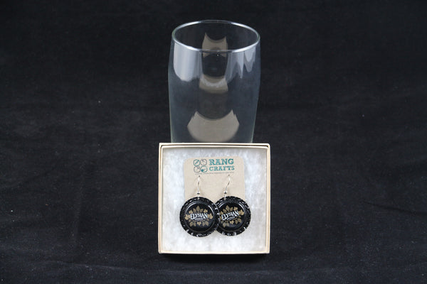 Elysian Brewing Company Dangle Bottle Cap Earrings