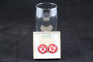 Harpoon Brewery Dangle Bottle Cap Earrings