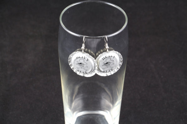 Heavy Seas Brewing Dangle Bottle Cap Earrings