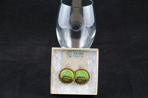 Leinenkugel Brewing Company Dangle Bottle Cap Earrings