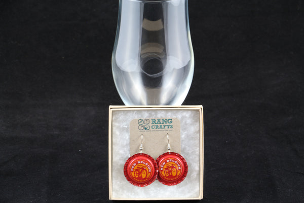 New Belgium Brewing Company Dangle Bottle Cap Earrings