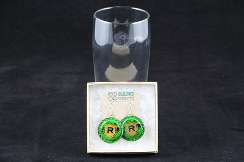 Redd's Dangle Bottle Cap Earrings