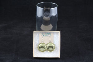Saranac Dangle Bottle Cap Earrings