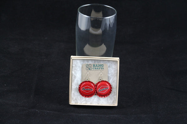 Full Sail Brewing Company Dangle Bottle Cap Earrings