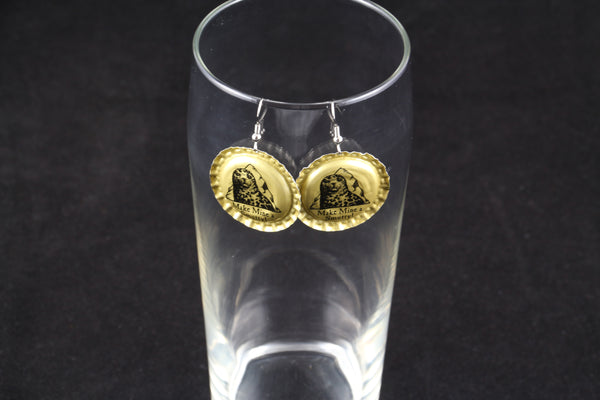 Smuttynose Brewing Company Dangle Bottle Cap Earrings