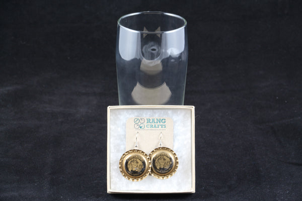 Tommyknocker Brewing Company Dangle Bottle Cap Earrings