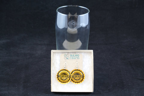 Troegs Brewing Company Dangle Bottle Cap Earrings