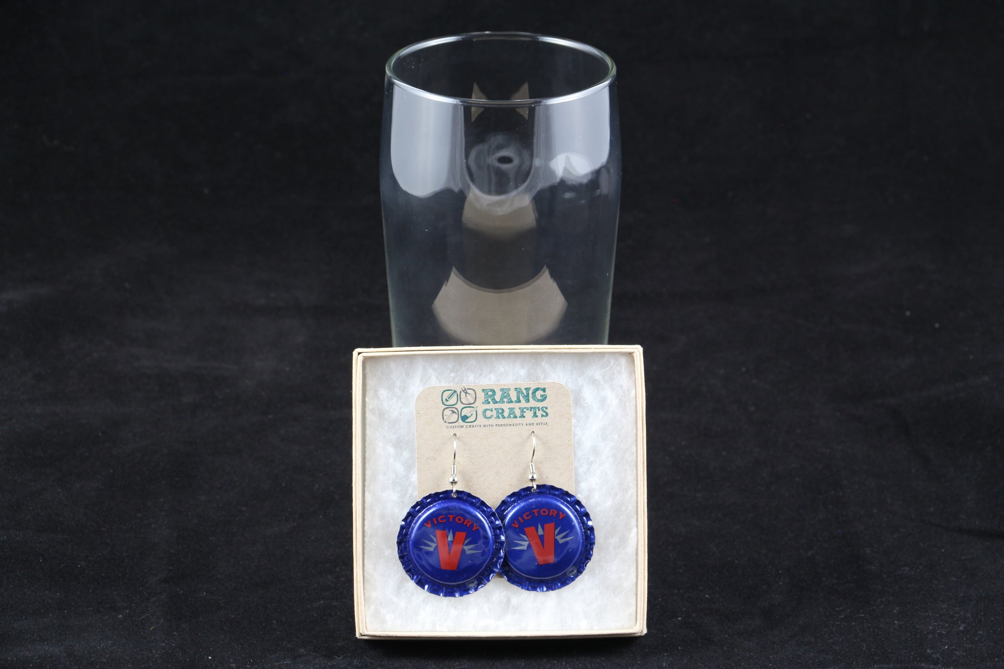 Victory Brewing Company Dangle Bottle Cap Earrings