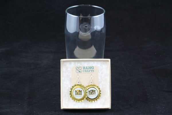 Weihenstephaner Brewing Dangle Bottle Cap Earrings