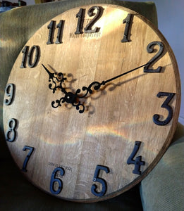 Large Wine Barrel Wall Clock