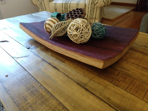 Wine Barrel Stave Bowl/Platter/Centerpiece