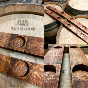 Wine Barrel Stave Tea Light Candle Holder