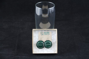 Woodchuck Vermont Hard Cider Dangle Bottle Cap Earrings