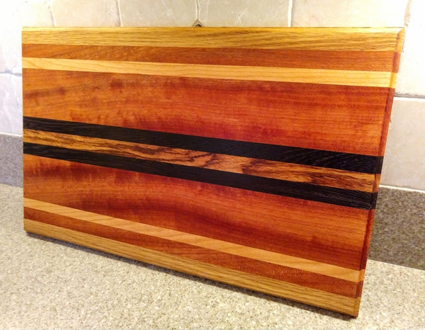 Wooden Cutting Board Cherry Sapele White Oak Wenge Zebrawood
