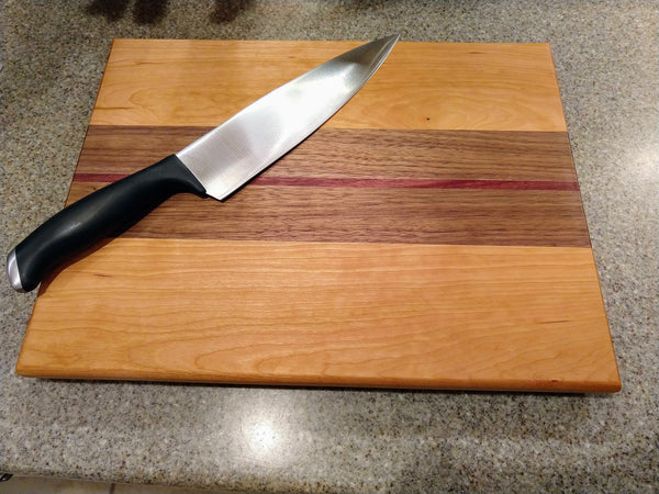 Wooden Cutting Board White Oak Black Walnut Purple Heart