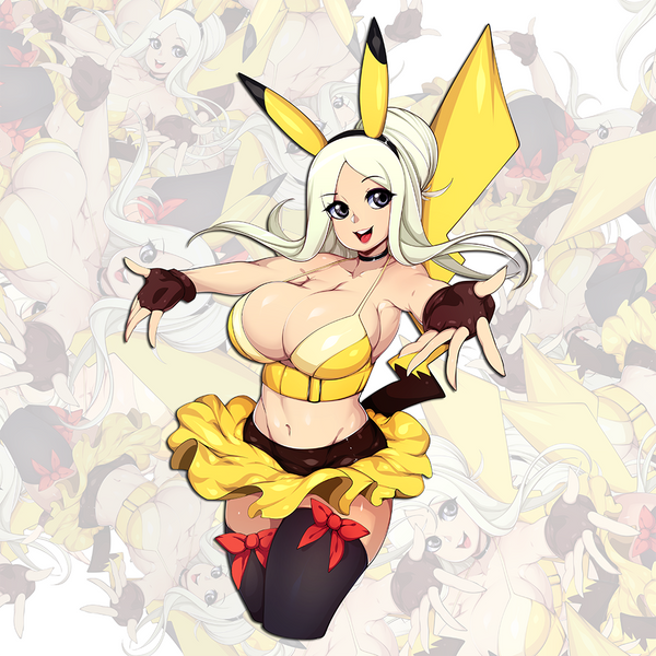 Pika Girl Sticker