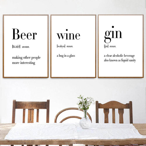 Defining Beer, Wine, Vodka, and Gin