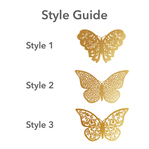 Butterfly Bliss - Gold Edition - 12 piece set