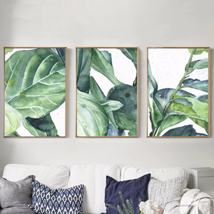 Watercolor Fiddle Leaf Figs