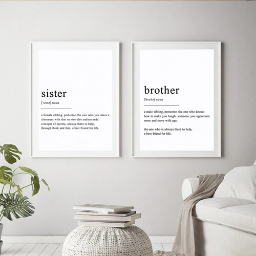 Defining Sister and Brother