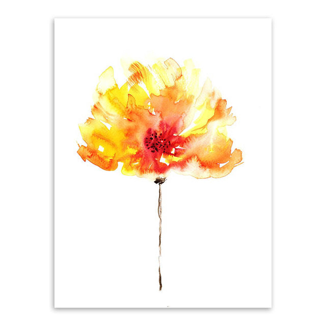 Bright Watercolor Flowers