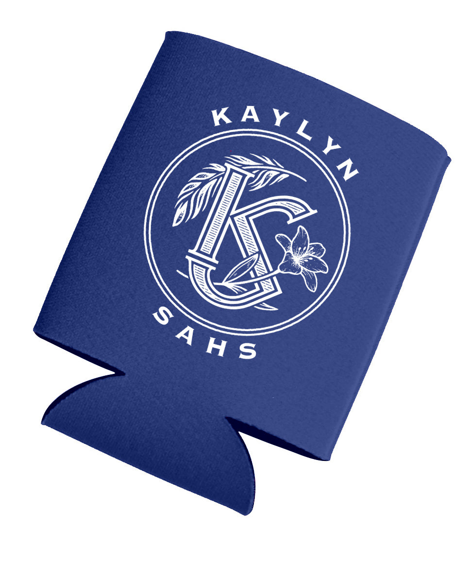 Blue/White Logo Can Koozie - Royal Blue (NEW)