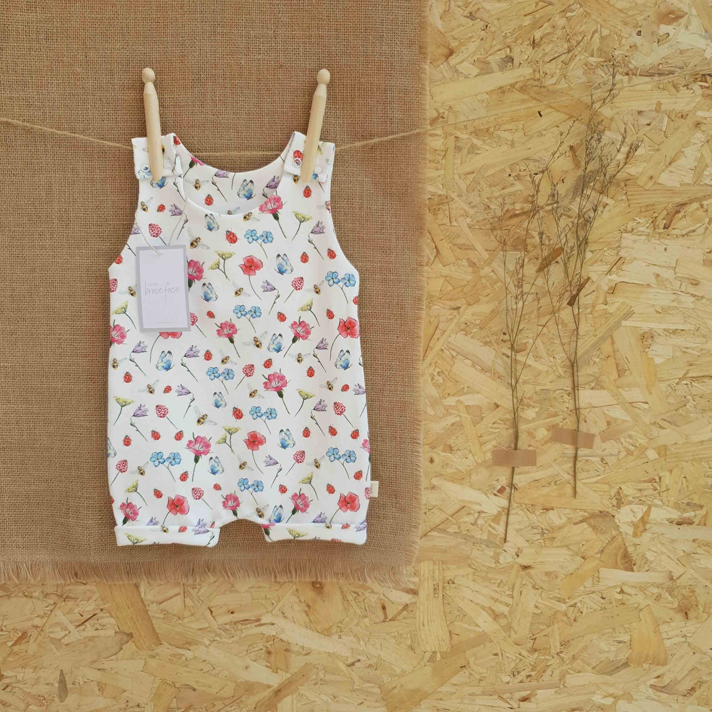 Wildflower Garden Short Romper