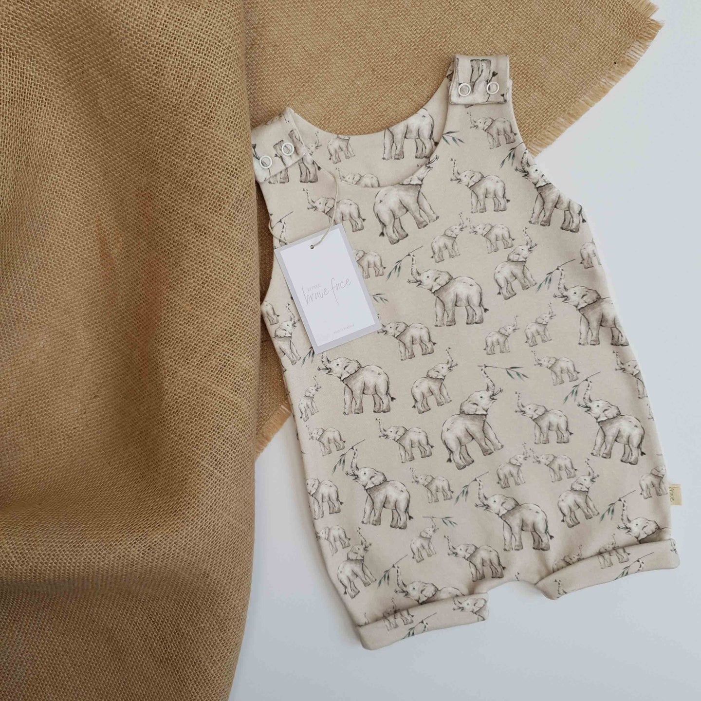 Elephant Friends Short Romper