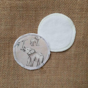 Elephant Friends Print Face Pads