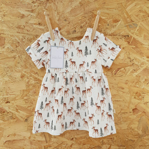 SALE Woodland Fawn Dress - 6-9m