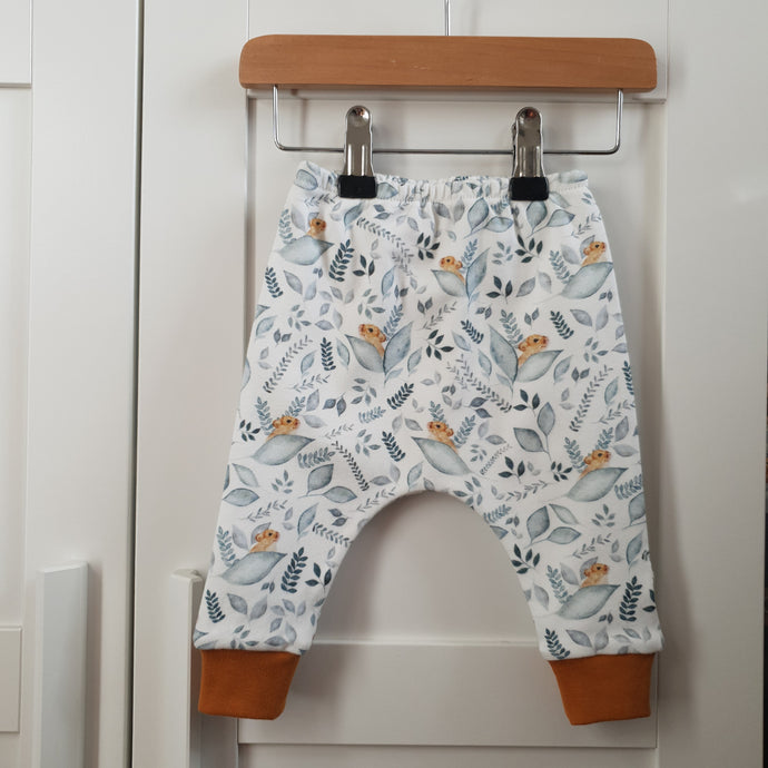 SALE Dormouse Leggings (Brass Orange Cuff) - 3-6m