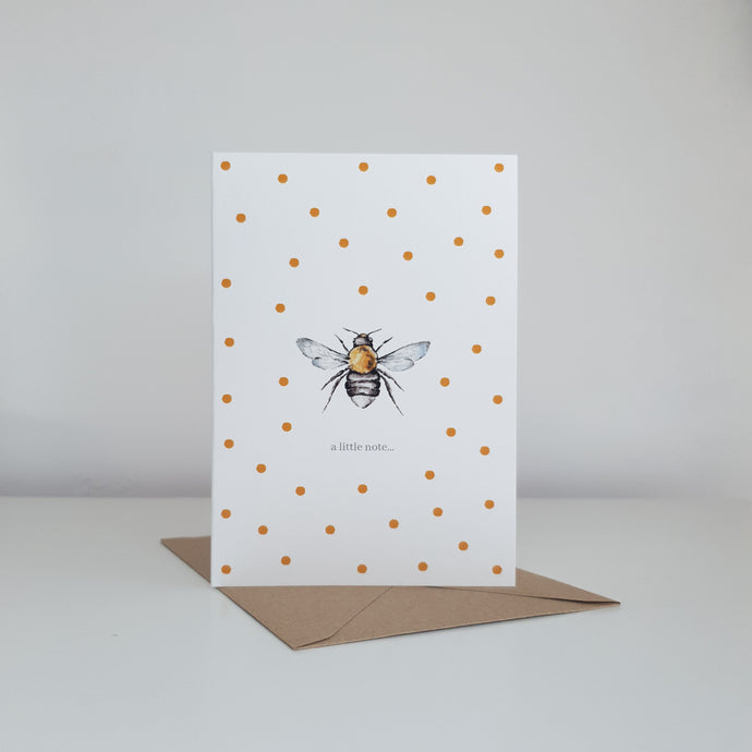 'A Little Note...' Bee Card