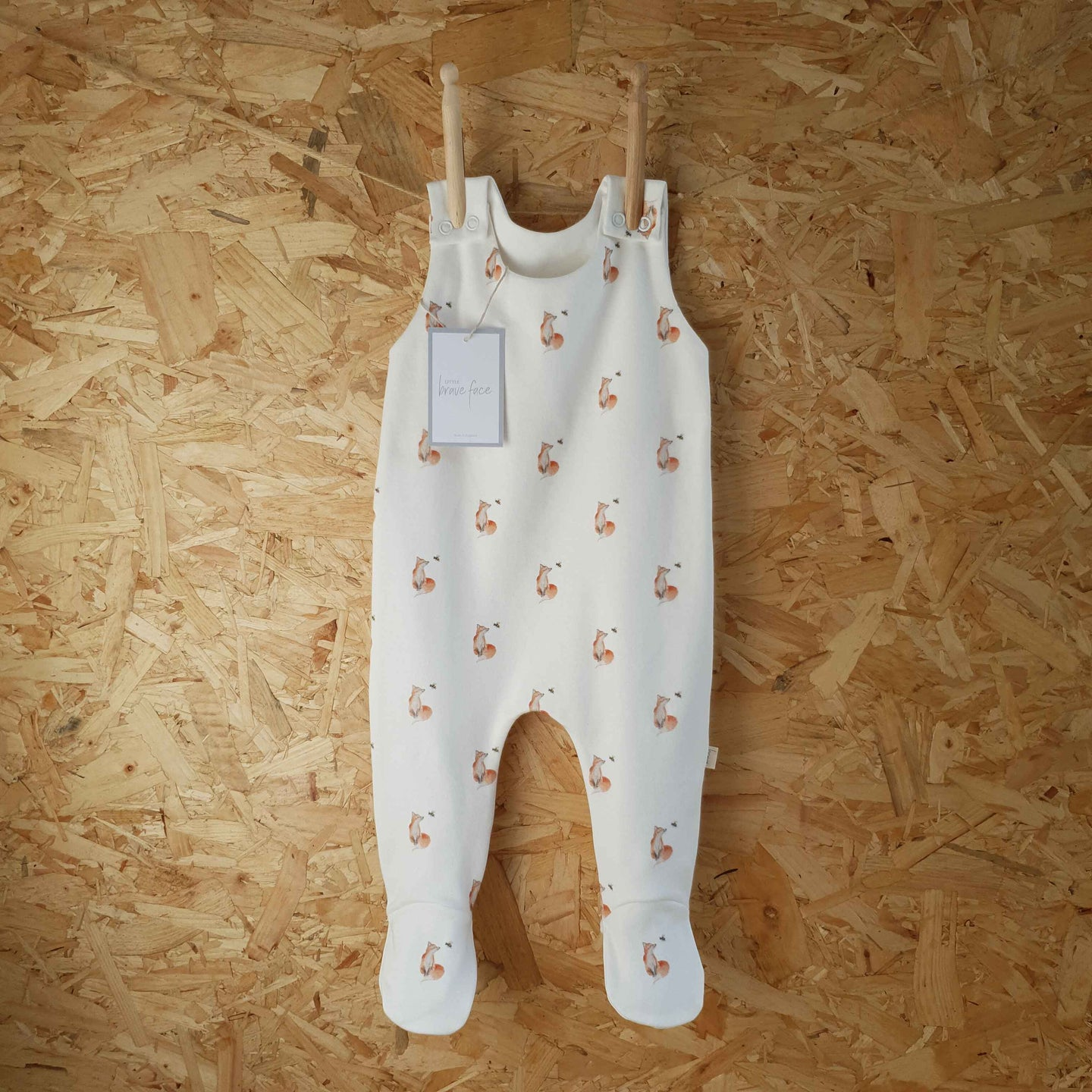 Fox & Bee Footed Romper