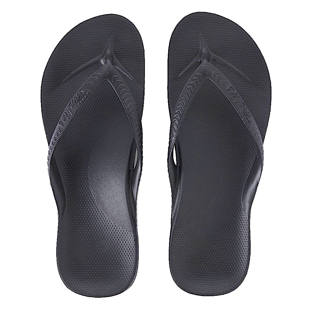 ARCHIES THONGS BLACK - Noosa Footwear Co.