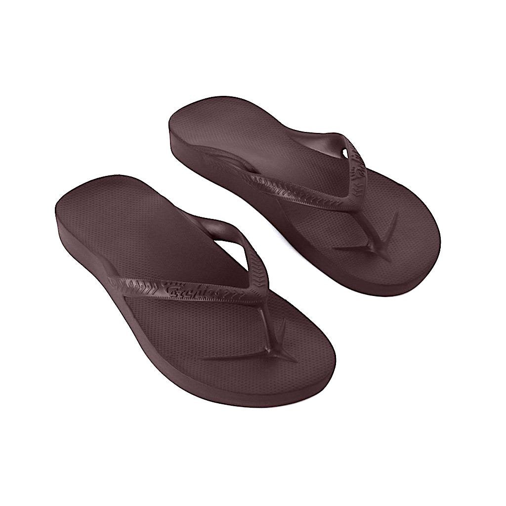 ARCHIES THONGS BROWN - Noosa Footwear Co.