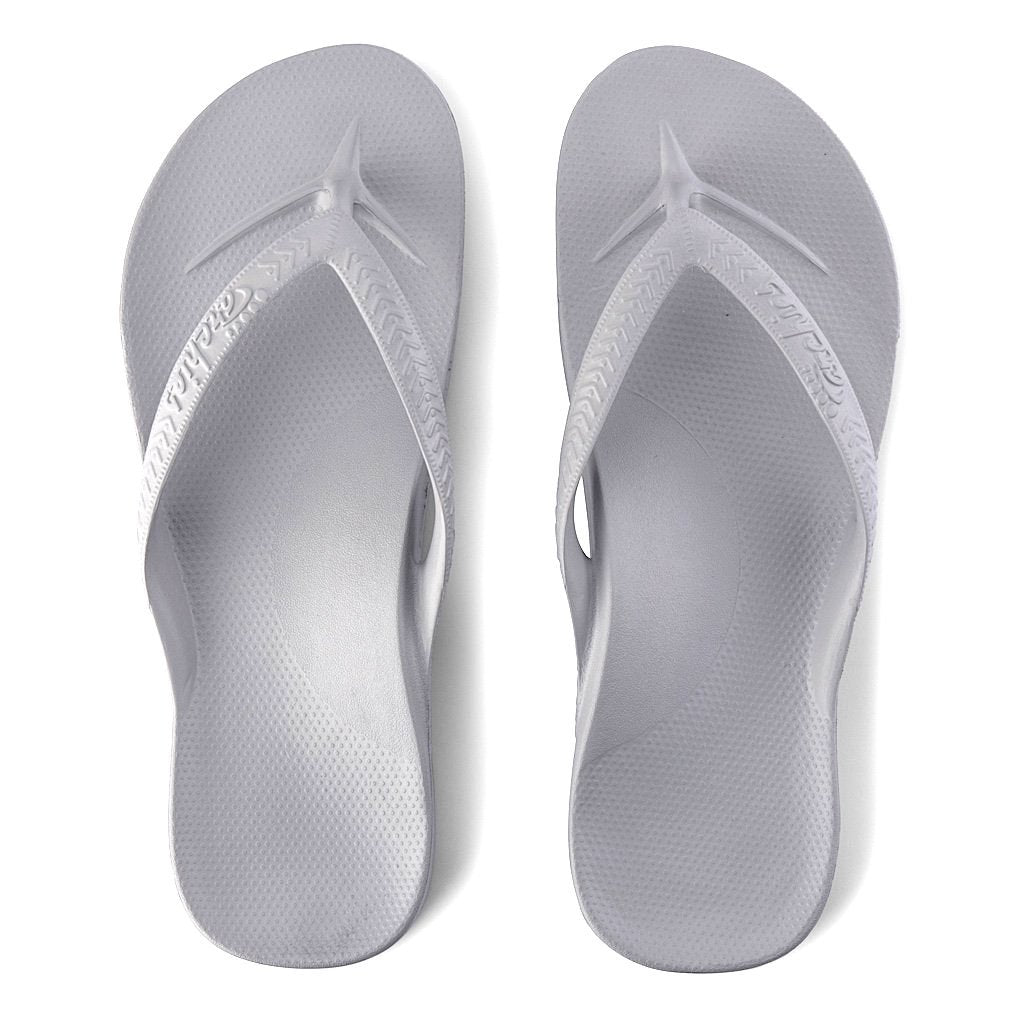 ARCHIES THONGS GREY - Noosa Footwear Co.